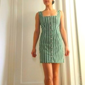 Urban outfitters striped corduroy dress